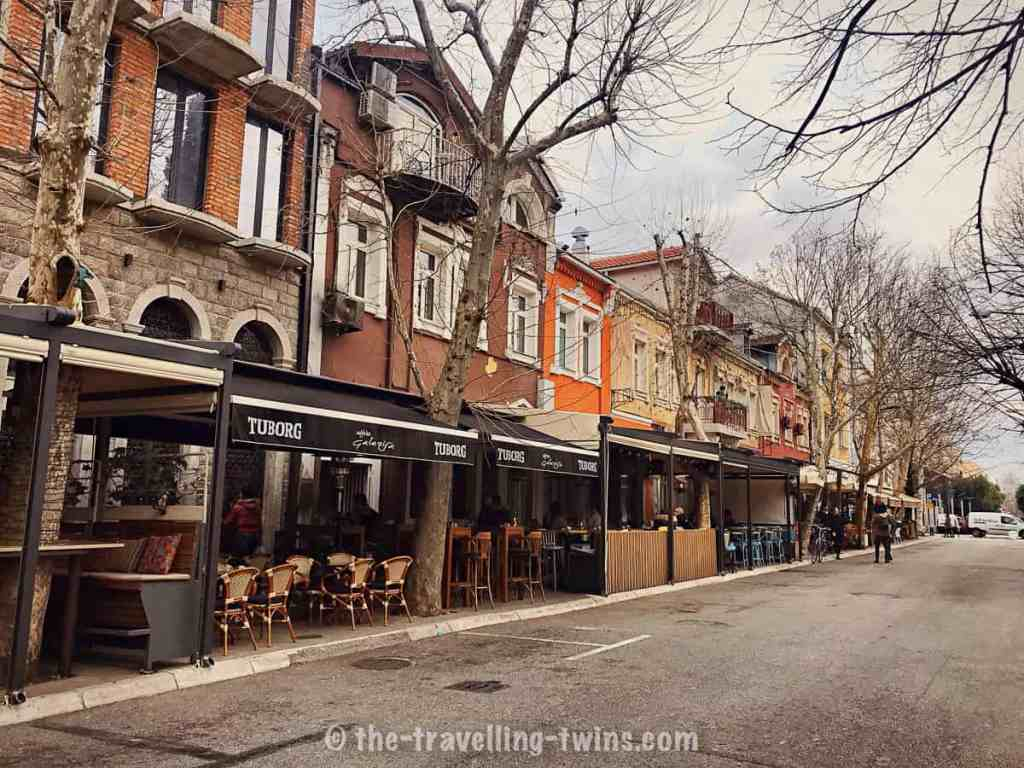 great place city center caffes on the street in Podgorica - day trips from kotor