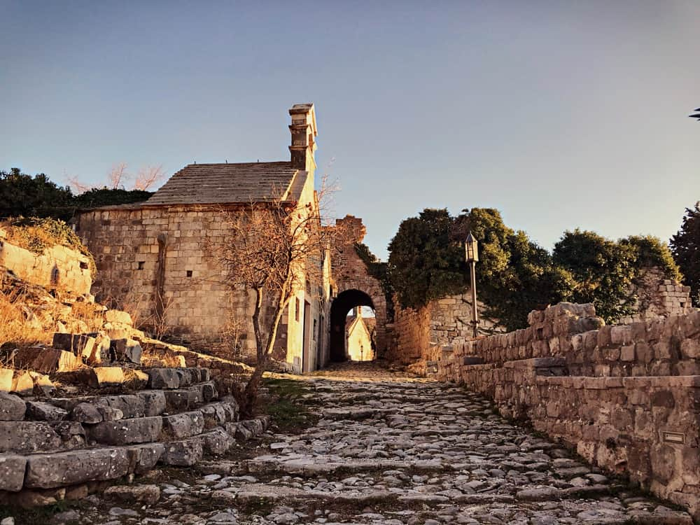 ruins of town of stari bar old - remains of ottoman empire settlement