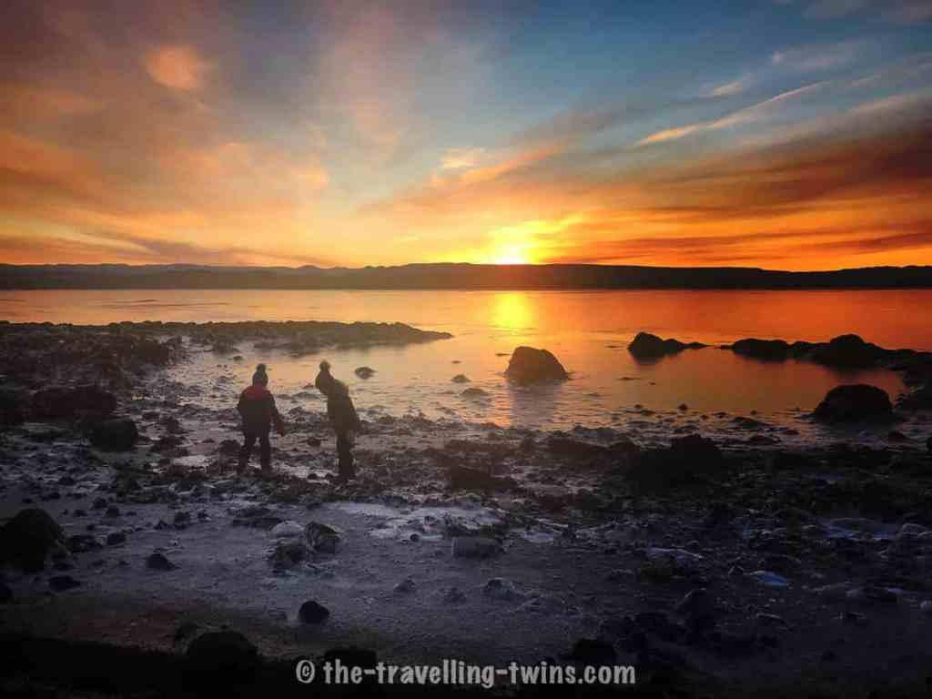 free things to do in iceland with kids - go see sunrise