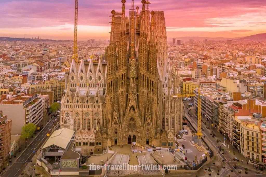Landmarks in Spain sagrada familia barcelona spain