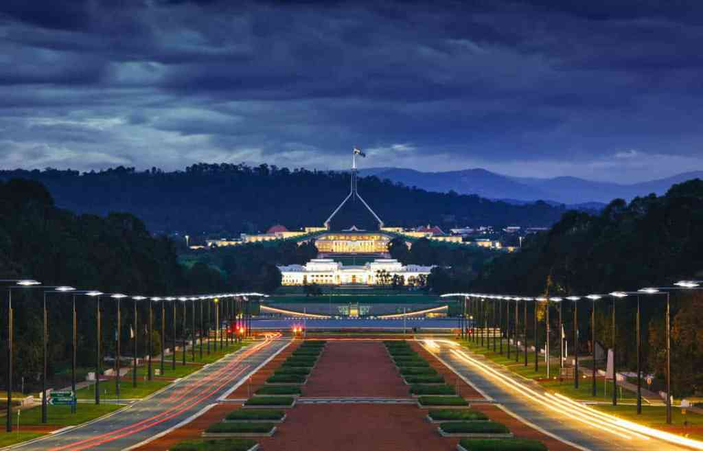facts about canberra - parliament