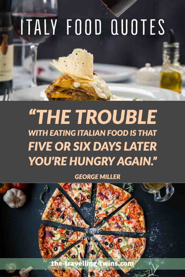 Italy Quotes about food
