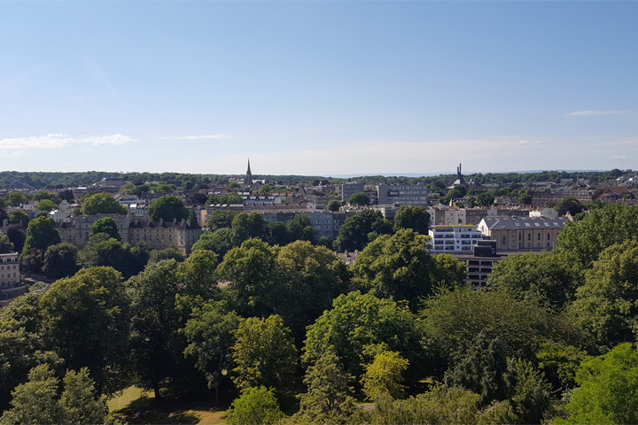 The view from Cabot Tower