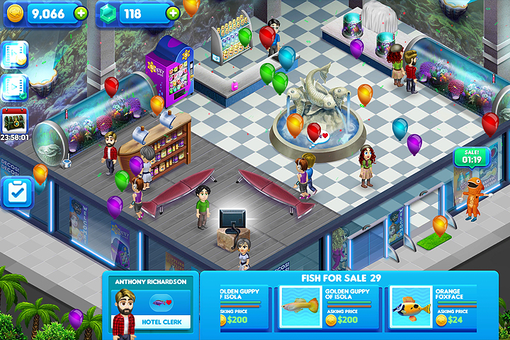 Fish Tycoon In Game Screenshot