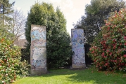 """<h5>Thanks Lismore Castle Arts</h5><p>Two sections of the Berlin Wall installed in Lismore Castle Gardens in March 2015. © <a href=""""http://www.lismorecastlearts.ie"""" target=""""_blank"""">Lismore Castle Arts</a></p>"""