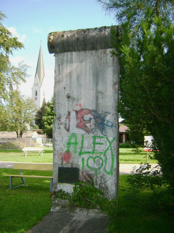 The Berlin Wall in Oberstdorf, Germany