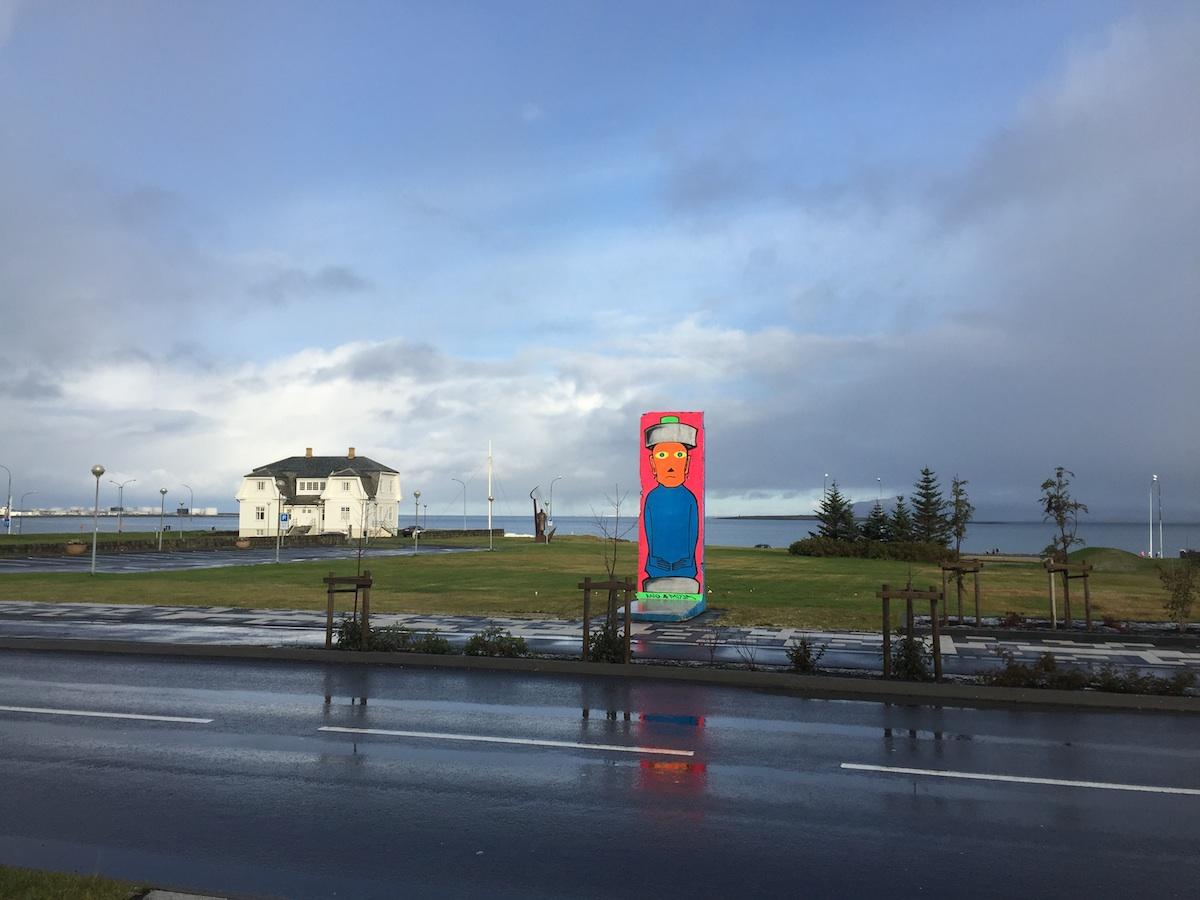 Berliner Mauer in Reykjavik