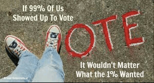 If the 99% votes ...