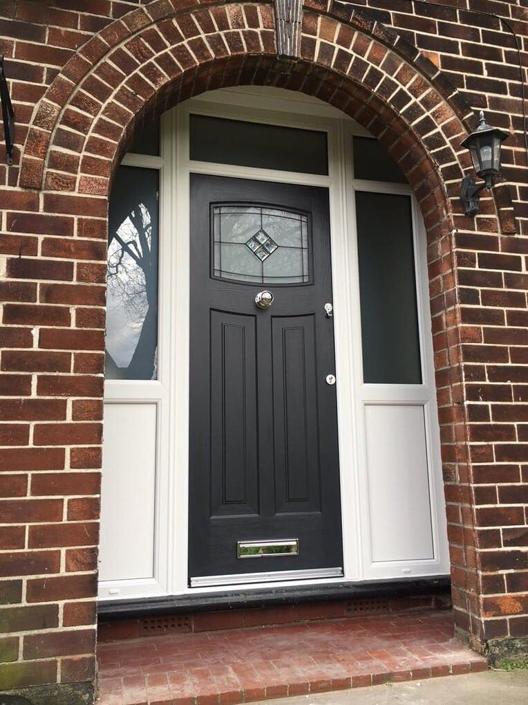 1930s Style Black Rockdoor  The Window Company