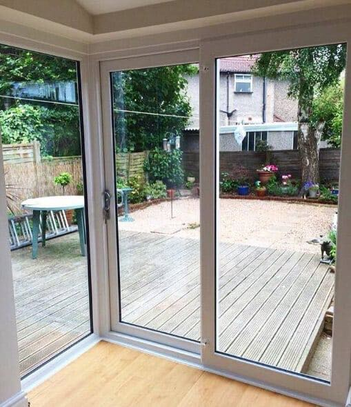 The window company manchester upvc windows doors for Corner sliding glass doors