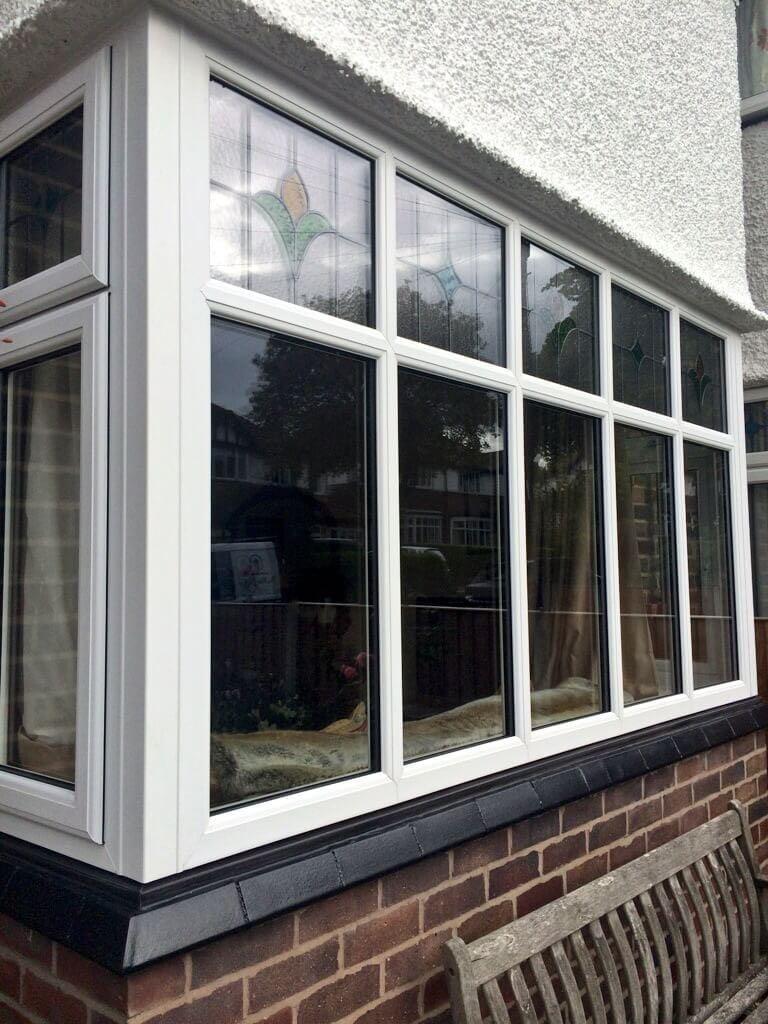 Square Bay Window Black Cill  The Window Company