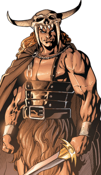 Cartoon rendition of Beowulf adapted from the DC Comics