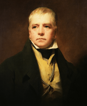 A painting of Sir Walter Scott