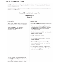 P.A.T. Prep - Formula and Answer Sheet - JUNIOR HIGH MATH VIRTUAL CLASSROOM [ 1022 x 851 Pixel ]