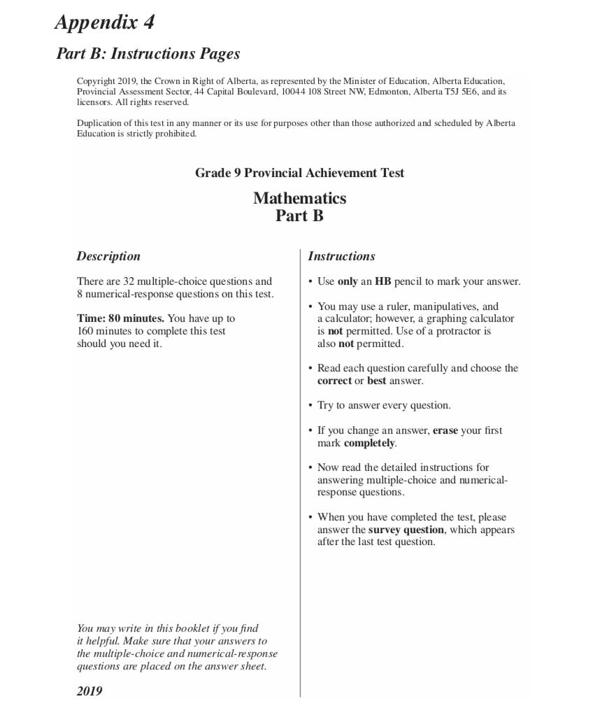 hight resolution of P.A.T. Prep - Formula and Answer Sheet - JUNIOR HIGH MATH VIRTUAL CLASSROOM