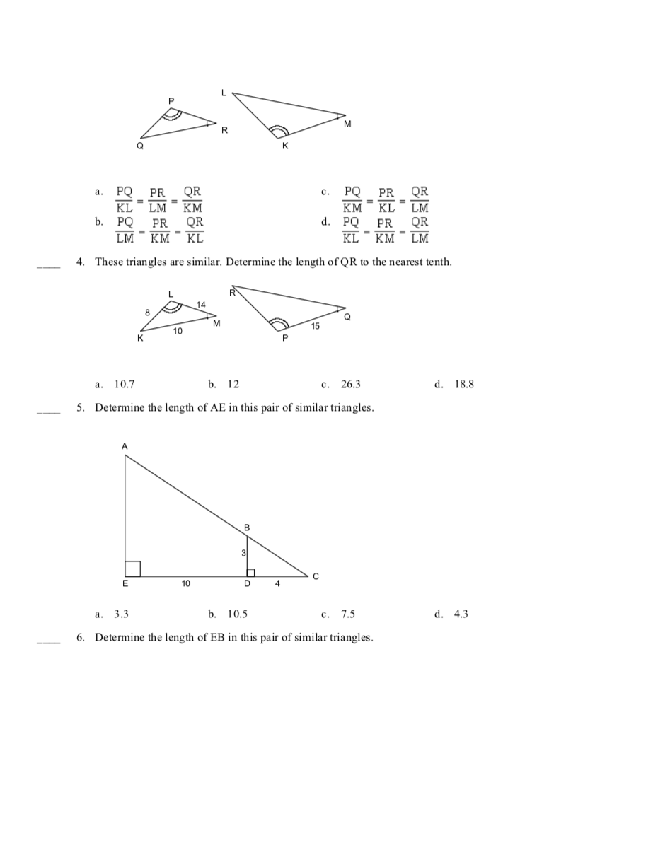 hight resolution of Unit 7.4 - Similar Triangles - JUNIOR HIGH MATH VIRTUAL CLASSROOM