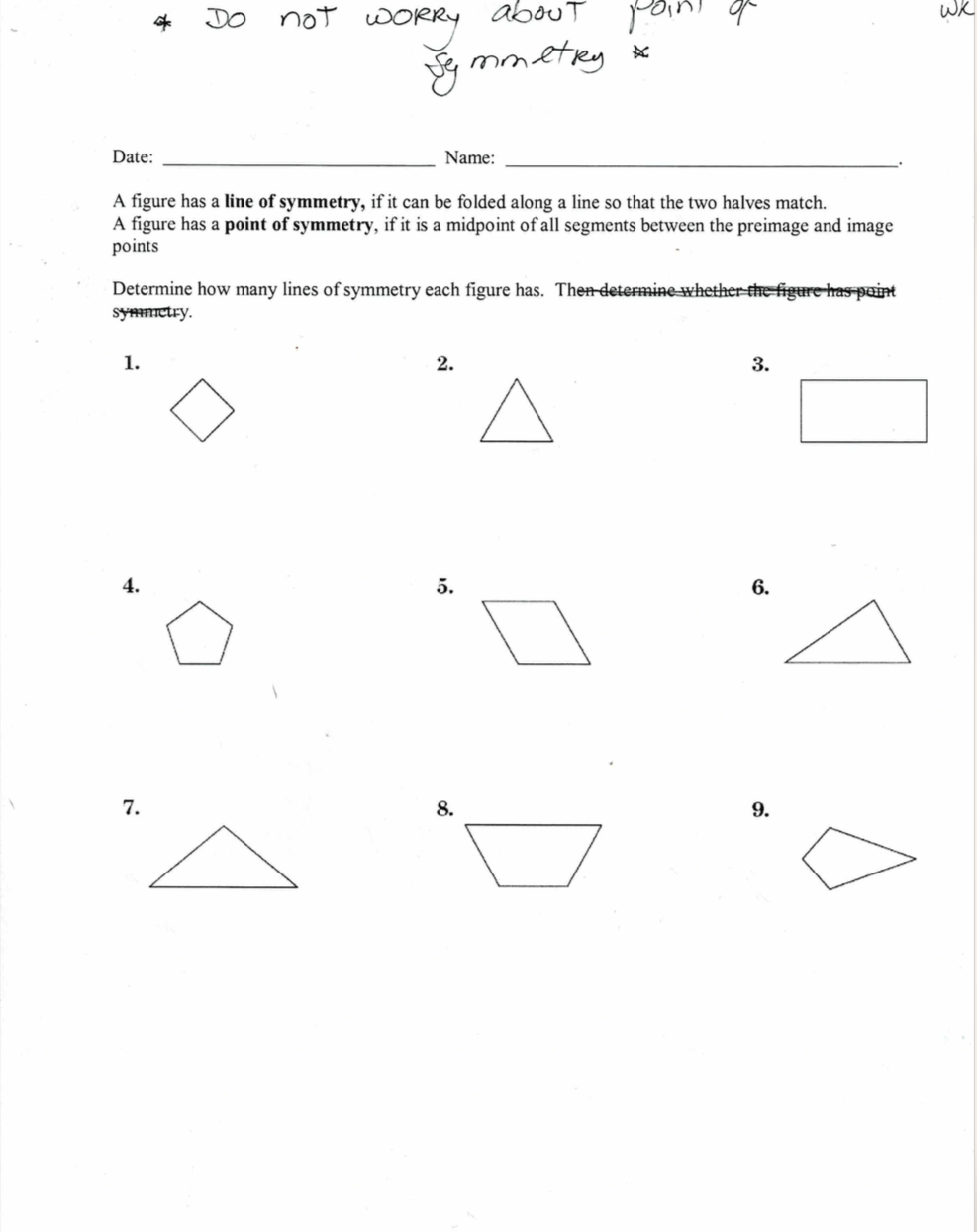 hight resolution of Unit 7.5: Reflections and Line Symmetry - JUNIOR HIGH MATH VIRTUAL CLASSROOM