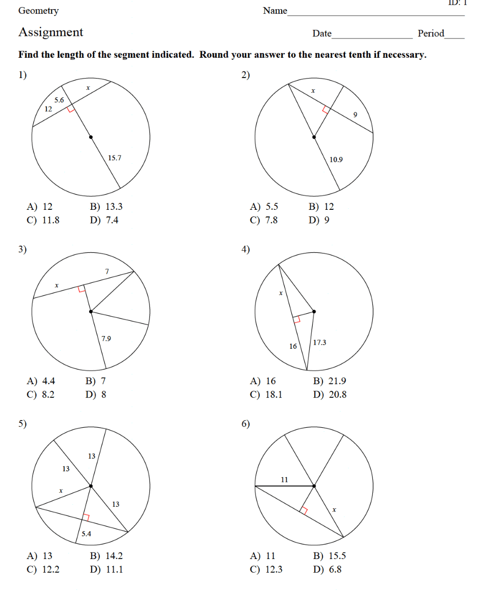 hight resolution of 8.2 - Property of Chords in Circles - JUNIOR HIGH MATH VIRTUAL CLASSROOM