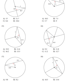 8.2 - Property of Chords in Circles - JUNIOR HIGH MATH VIRTUAL CLASSROOM [ 994 x 803 Pixel ]