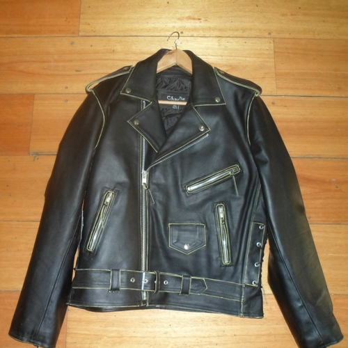 Black Live 2 Ride Leather Jacket Front - 500 x 500px