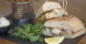 Fish Finger Ciabatta