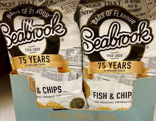 Yorkshire-Based, Seabrook Crisps Celebrates 75 Years With Limited-Edition 'Fish & Chip' Flavour