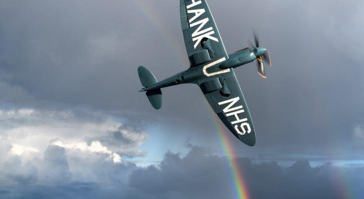'Thank U NHS' Spitfire Set To Soar Over Yorkshire Tomorrow