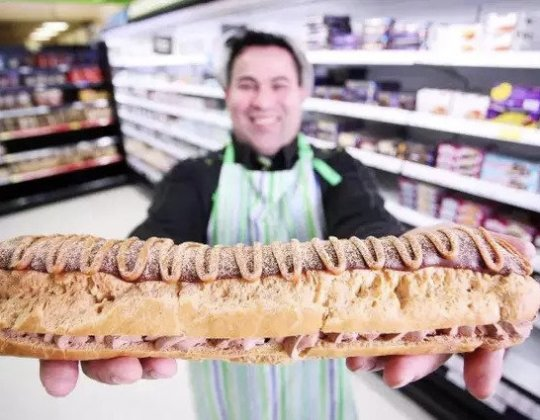 Asda Is Selling A  £5 Giant Chocolate And Caramel Eclair That Serves 10