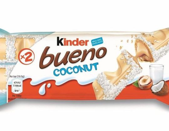 Kinder Bueno White Chocolate & Coconut Bars Are Back – And They Look Amazing