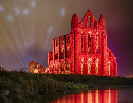 Whitby Abbey Will Light Up In Rainbow Colours With Live Music This Halloween