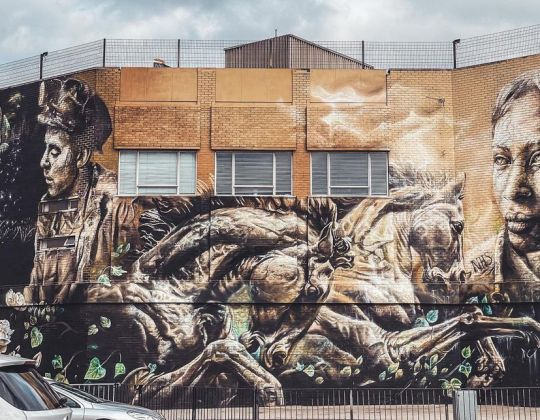 An Emotional Mural That Depicts South Yorkshire's Mining History Was Unveiled In Doncaster This Week