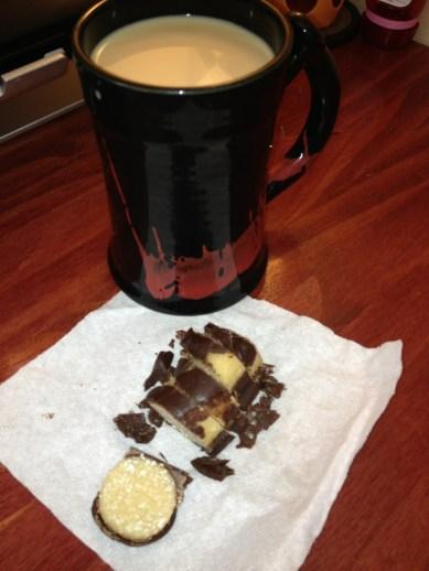 protein bar abd coffee