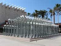 Lampposts outside LACMA | The 10 and the 110