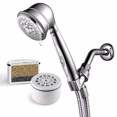 #9 AquaCare By HotelSpa 7-Setting Filtered Handheld Shower Head