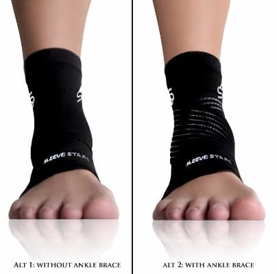 Sleeve Stars Ankle Brace Scrap with Plantar Fasciitis Foot Sleeve