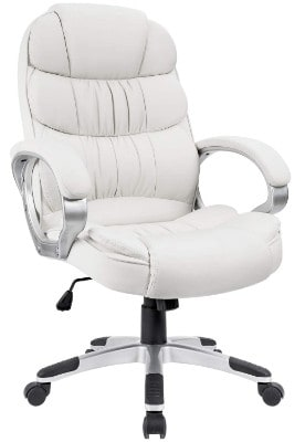 desk chair high sure fit covers nz top 14 best white office chairs in 2019 reviews guides the10pro 8 homall back computer pu leather adjustable