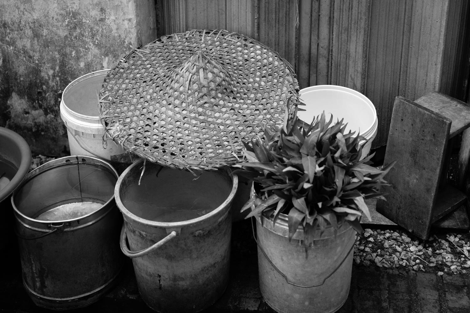 Collection of buckets and hat - Ipoh