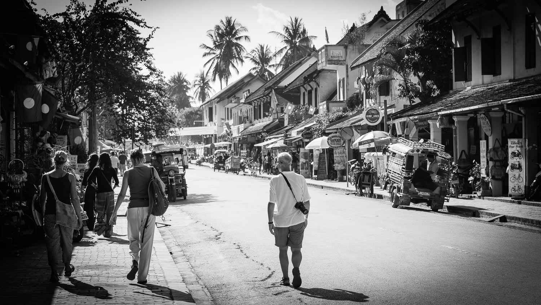 luang prabang street tourist