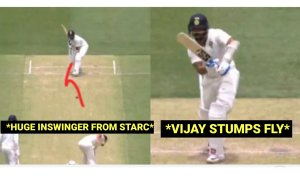 WATCH: Mitchell Starc's crazy celebration when he dismisses Murali Vijay