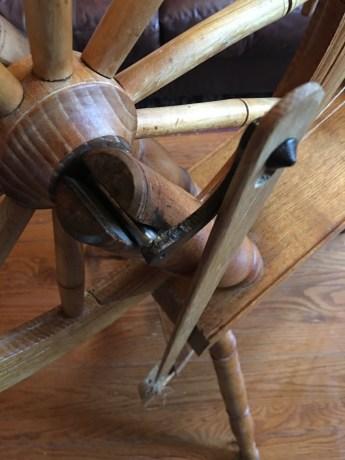 Flax wheel turning