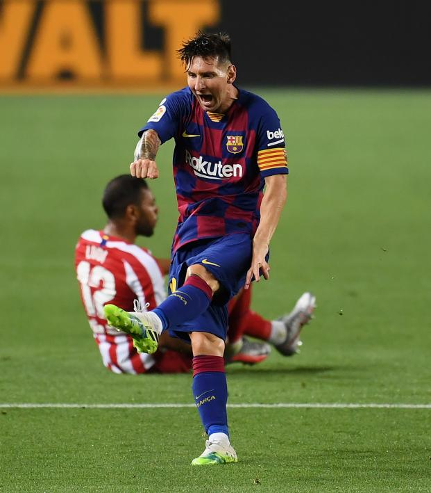 Barcelona Vs Atletico Madrid Highlights Messi Scores No 700