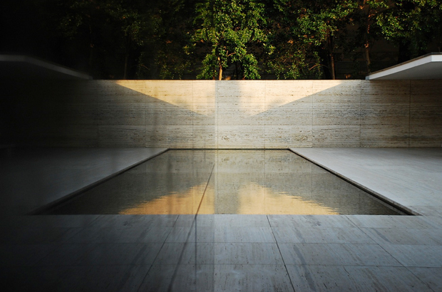 The Barcelona Pavilion by Ludwig Mies van der Rohe  OEN