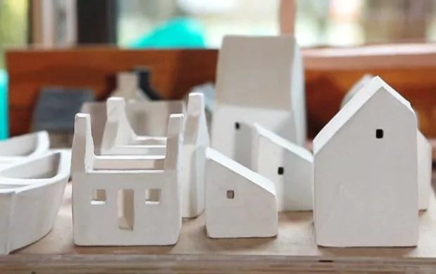 Ceramic Houses by Rowena Brown  OEN