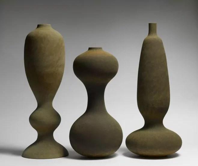 Monolithic Ceramics Vessels by Turi Heisselberg Pedersen  OEN