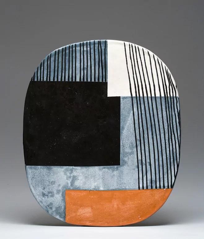 Between Painting  Sculpture  Handmade Oval Ceramic Forms by Jun Kaneko  OEN