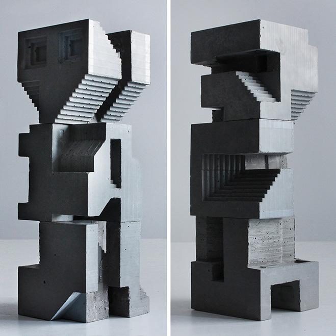 Cubic Geometry  Concrete Modular Sculptures by Artist