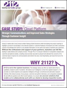 2112 Group Case Study: A Cloud Platform Company