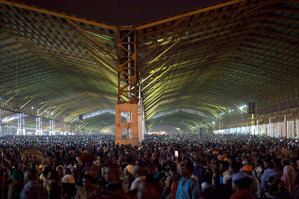 Church services are sometimes held in structures resembling hangars