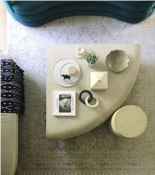 Detailed shot of Orlando Soria's living room