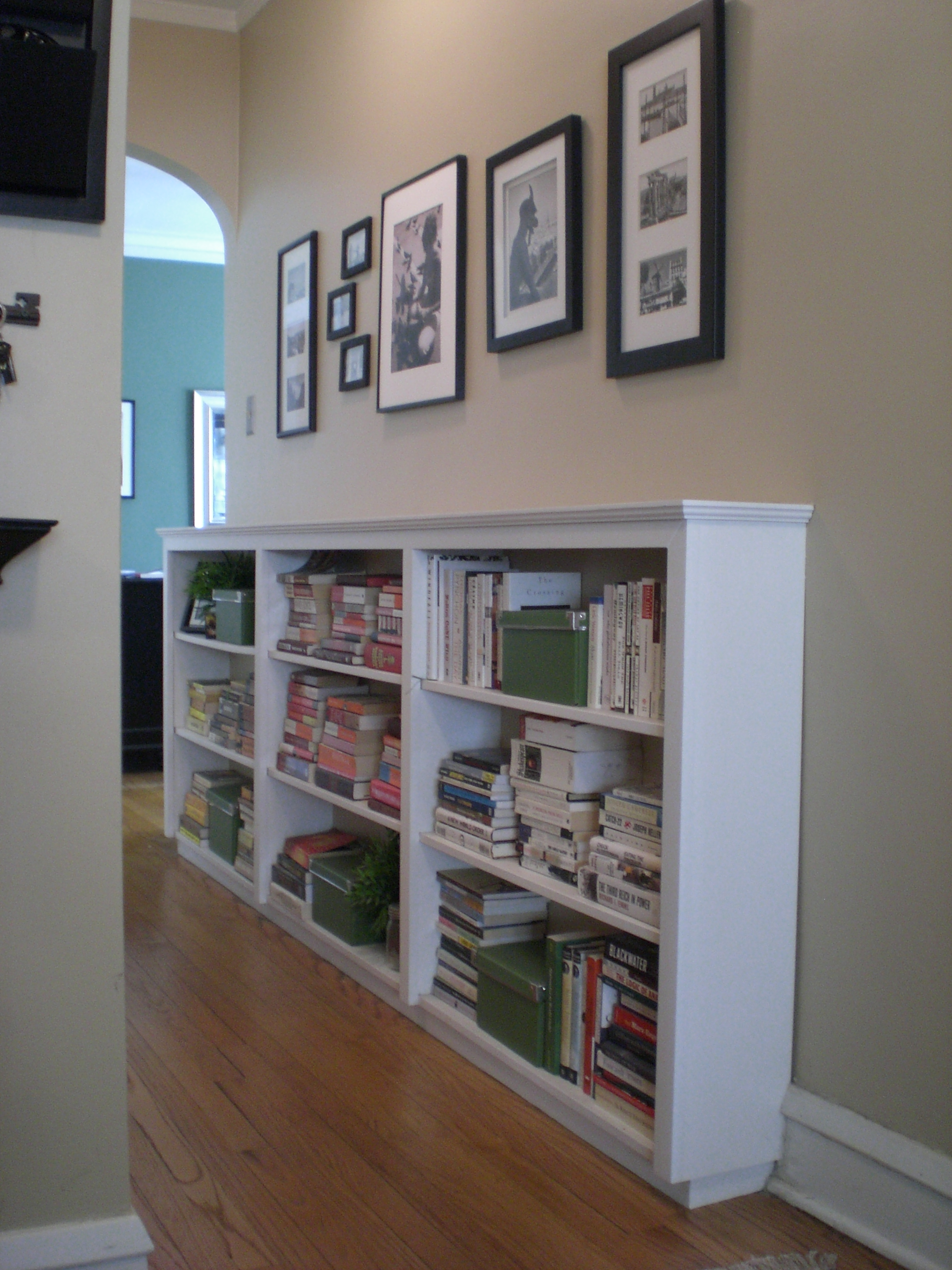 Finding Space Hallway Bookcases